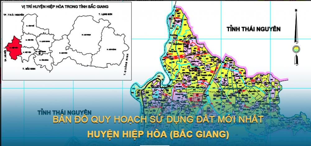 Bản đồ quy hoạch sử dụng đất huyện Hiệp Hòa 2021