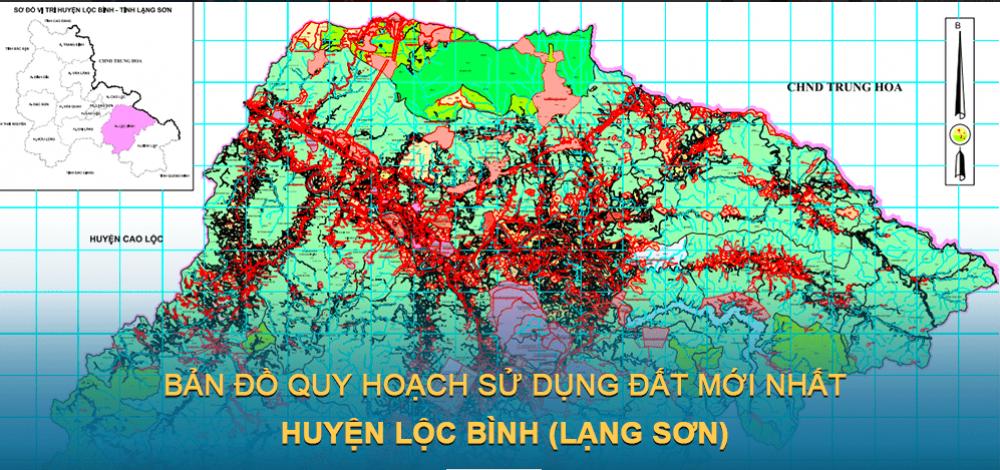 Bản đồ quy hoạch sử dụng đất huyện Lộc Bình 2030