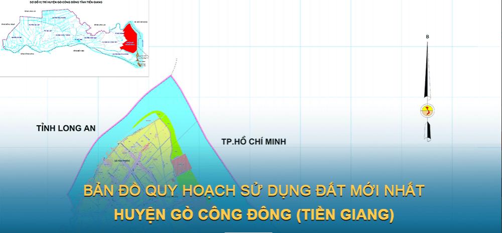 Bản đồ quy hoạch sử dụng đất huyện Gò Công Đông 2021