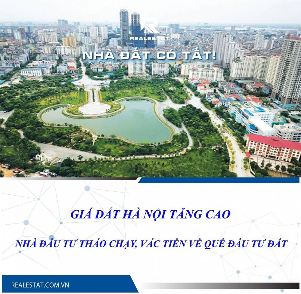 Giá đất Hà Nội tăng cao, nhà đầu tư tháo chạy, vác tiền về quê đầu tư đất