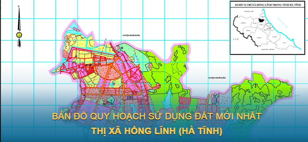 Bản đồ quy hoạch sử dụng đất Thị xã Hồng Lĩnh 2030