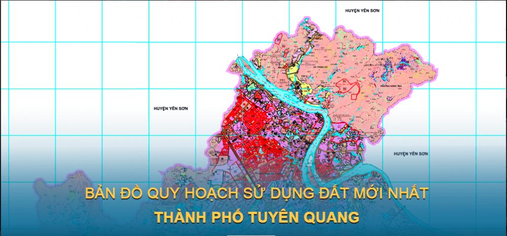 Bản đồ quy hoạch sử dụng đất Thành phố Tuyên Quang 2030