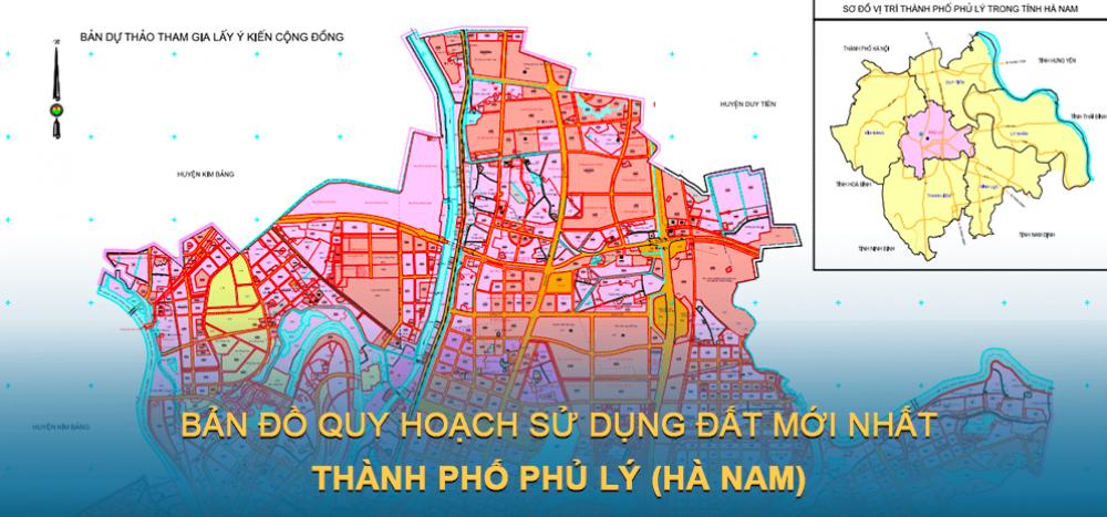 Bản đồ quy hoạch sử dụng đất Thành phố Phủ Lý 2030