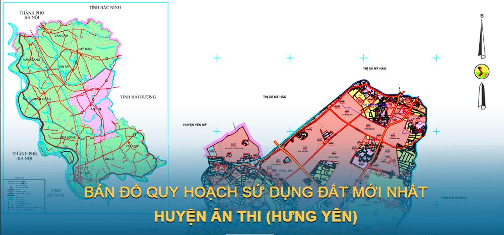 Bản đồ quy hoạch sử dụng đất huyện Ân Thi 2030