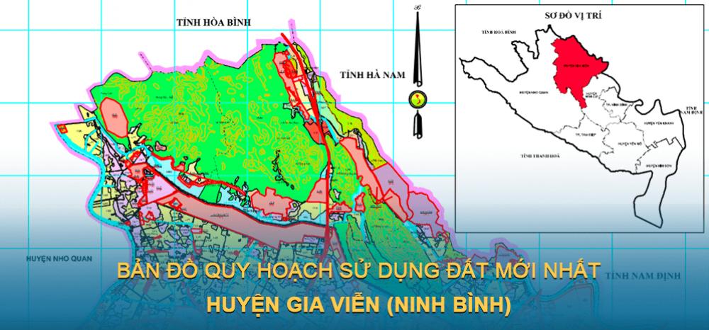 Bản đồ quy hoạch sử dụng đất huyện Gia Viễn 2030