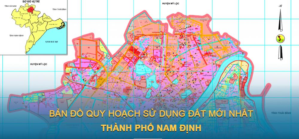 Bản đồ quy hoạch sử dụng đất Thành phố Nam Định 2030