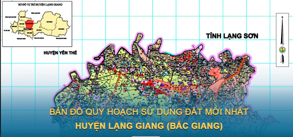 Bản đồ quy hoạch sử dụng đất huyện Lạng Giang 2021