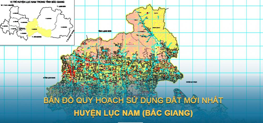 Bản đồ quy hoạch sử dụng đất huyện Lục Nam 2021