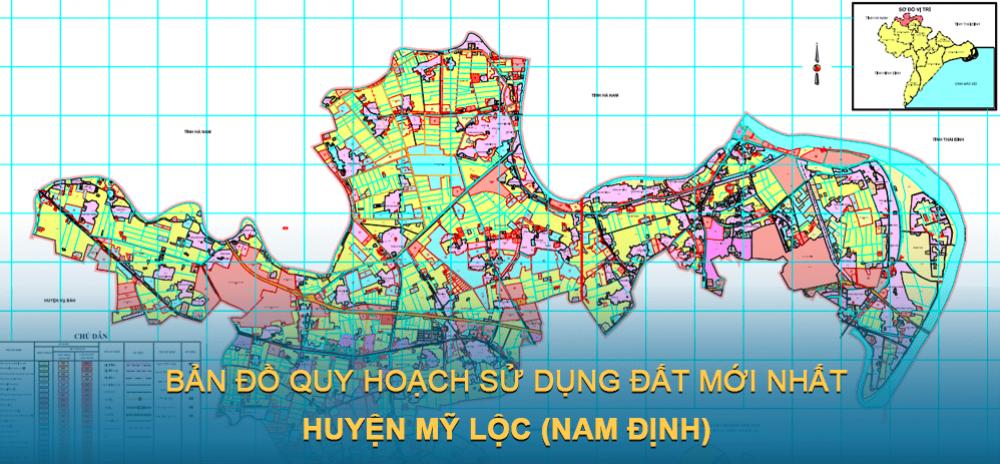 Bản đồ quy hoạch sử dụng đất huyện Mỹ Lộc 2030