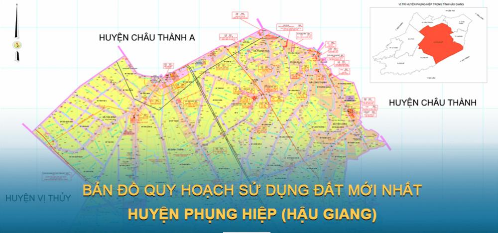 Bản đồ quy hoạch sử dụng đất huyện Phụng Hiệp 2021