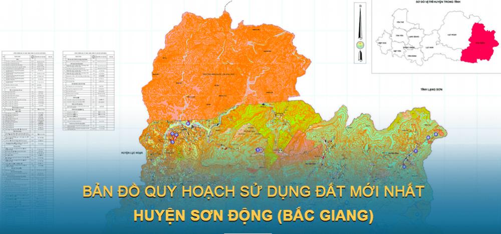 Bản đồ quy hoạch sử dụng đất huyện Sơn Động 2021