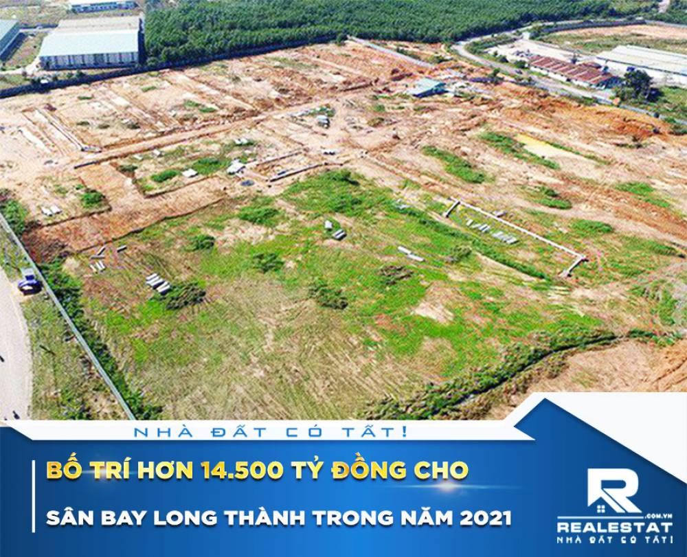Bố trí hơn 14.500 tỷ đồng cho Sân bay Long Thành trong năm 2021