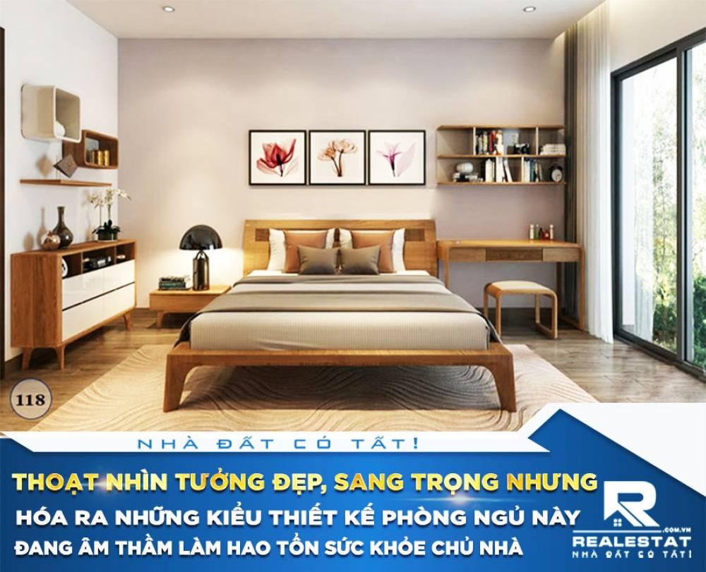 Thoạt nhìn tưởng đẹp, sang trọng nhưng hóa ra những kiểu thiết kế phòng ngủ này đang âm thầm làm hao tổn sức khỏe chủ nhà