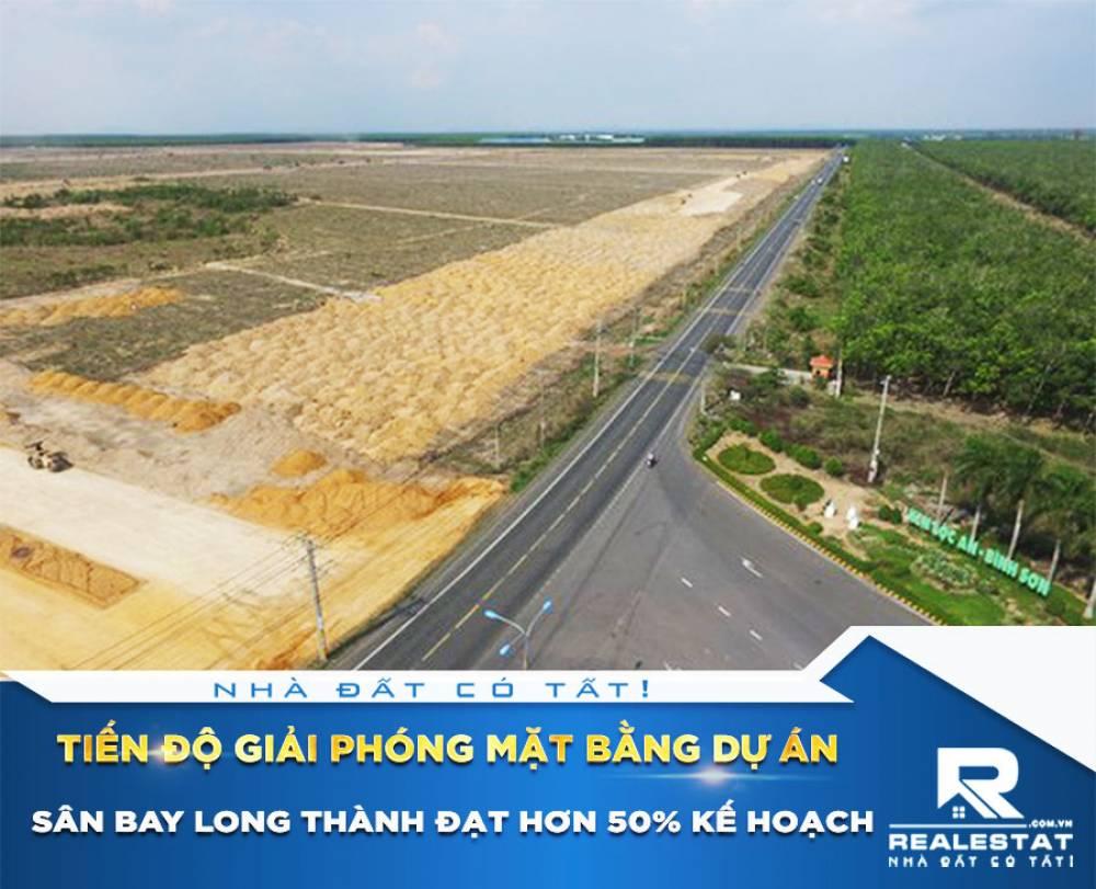 Tiến độ giải phóng mặt bằng dự án Sân bay Long Thành đạt hơn 50% kế hoạch