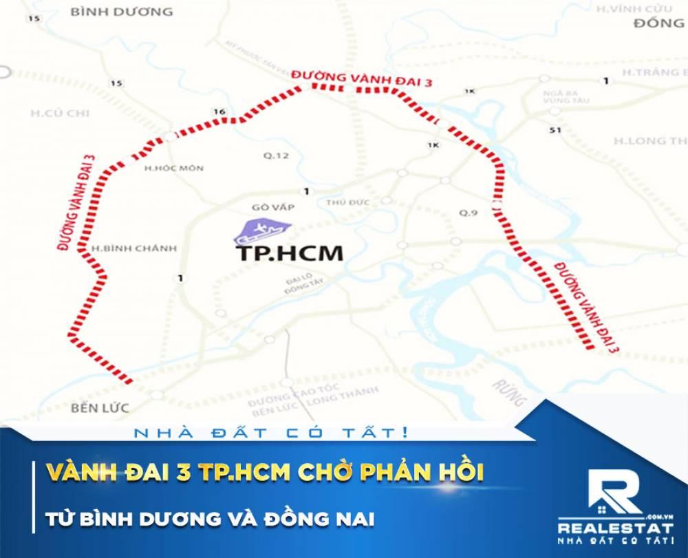 Vành đai 3 TP.HCM chờ phản hồi từ Bình Dương và Đồng Nai