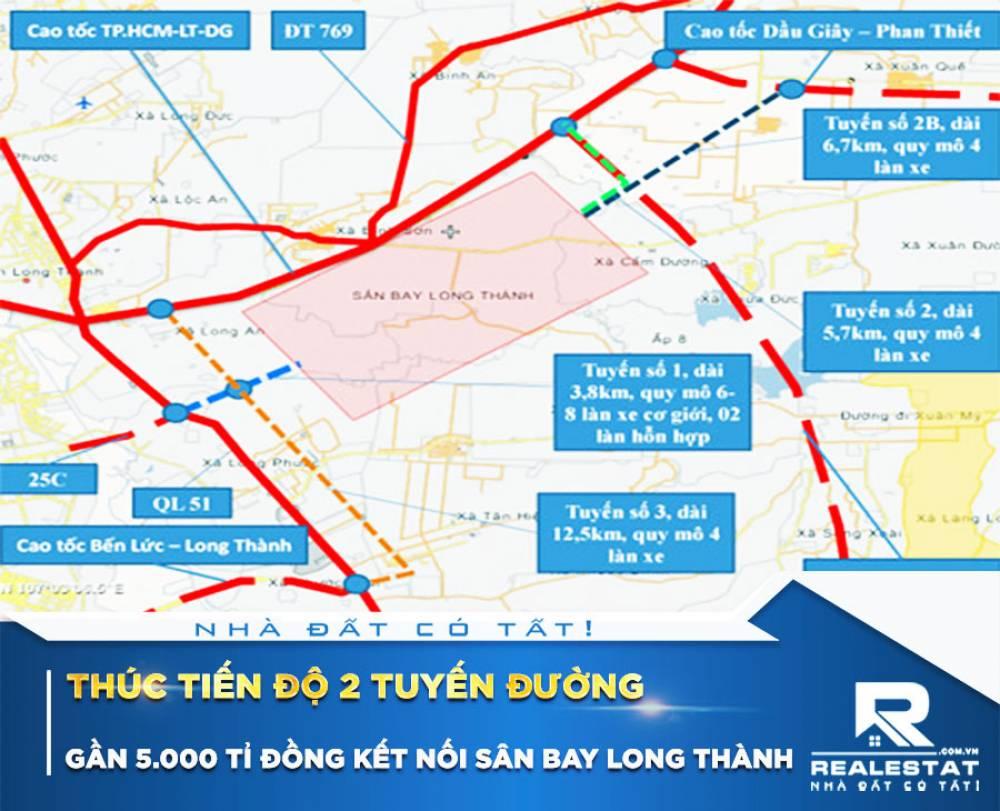 Thúc tiến độ 2 tuyến đường gần 5.000 tỉ đồng kết nối sân bay Long Thành