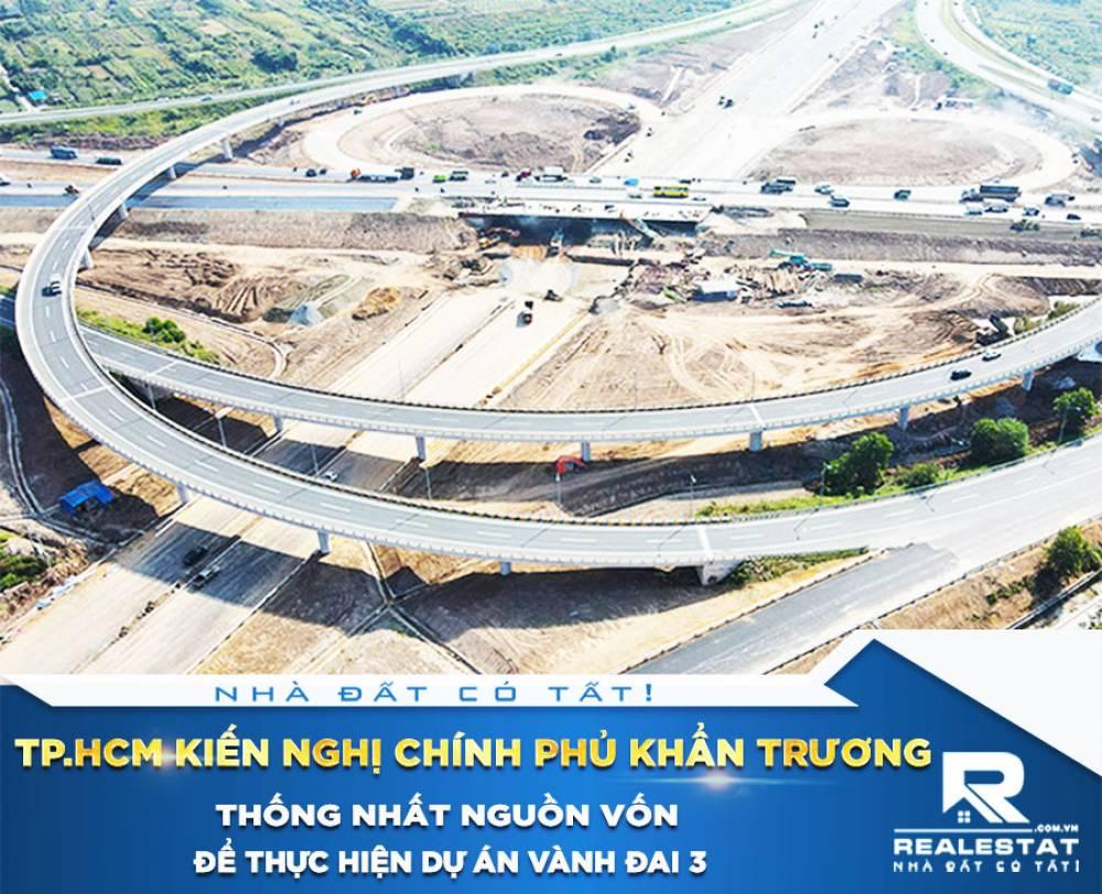 Tp.HCM kiến nghị Chính phủ khẩn trương thống nhất nguồn vốn để thực hiện dự án Vành đai 3