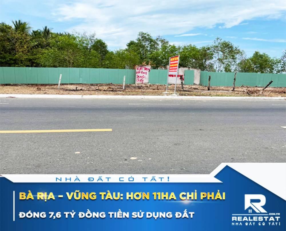 Bà Rịa – Vũng Tàu: Hơn 11ha chỉ phải đóng 7,6 tỷ đồng tiền sử dụng đất
